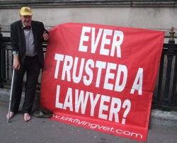 Maurice Kirk outside Cardiff County Court