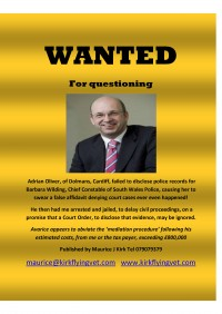 Adrian Oliver South Wales Police Solicitor