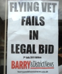 11 07 07 Flying Vet Barry & District Poster