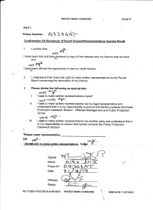 14 07 11 Confirmation of Disclosure of Recall
