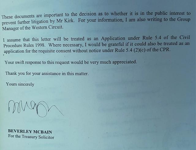 Vexatious Litigant Registration Attempt 3
