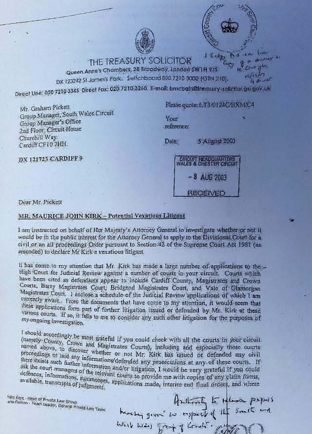 Vexatious Litigant Registration Attempt 4