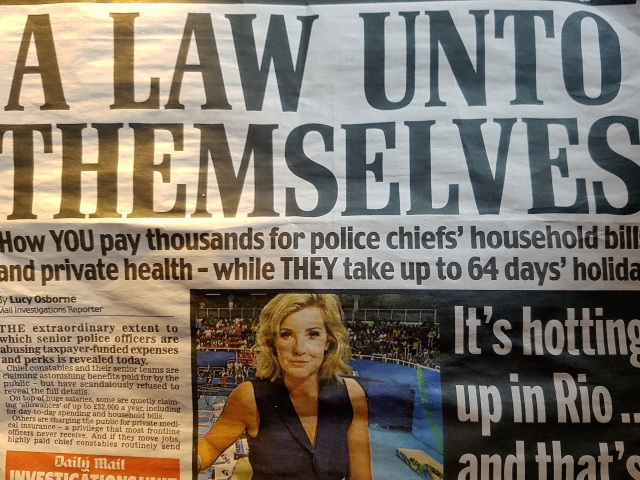 South Wales Police greed
