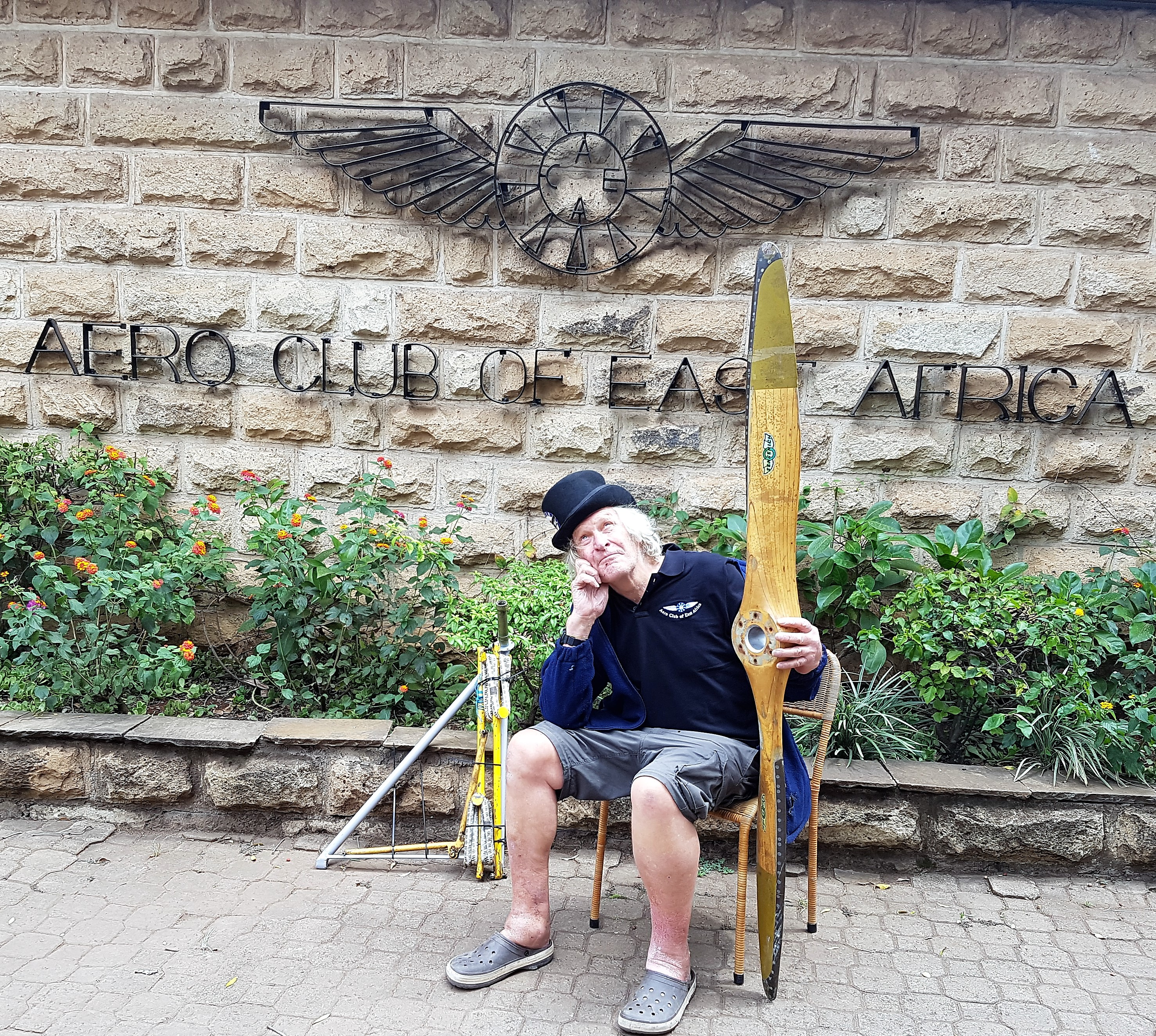 Back to lokichoggio to repair the poor old cub flying for Gardening tools nairobi