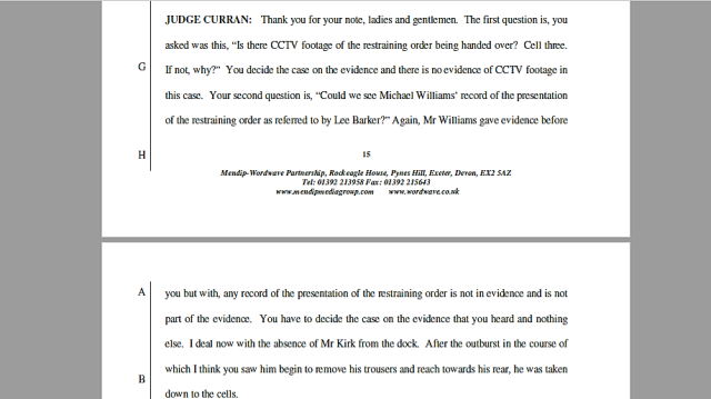 17 05 04 Judge Curren RO disclosure refusal
