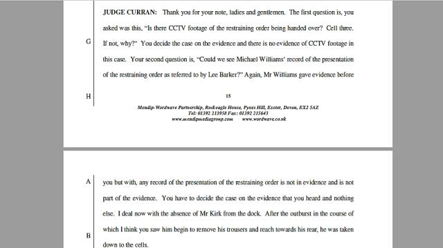17 05 04 Judge Curren RO disclosure refusal